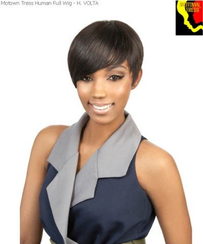 H. Volta Short Black Hairstyle Wig