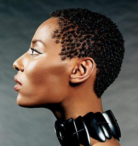 African American Short Hairstyles - Finger Coils
