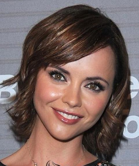 Chic Straight Short Wavy Hairstyle for Square Face