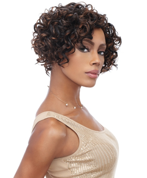 Curly African American Bob Hairstyle