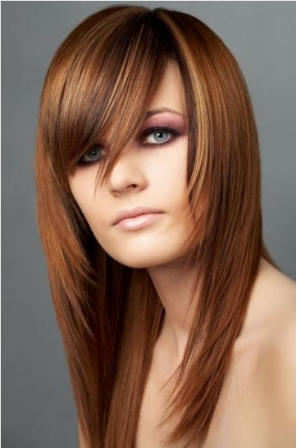 Long Hair For Round Faces : Gallery for gt long hairstyles with bangs and layers
