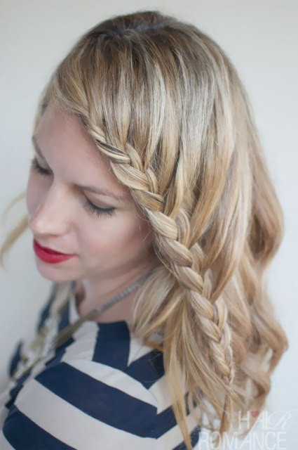 Easy Curly Hairstyles With A Braid