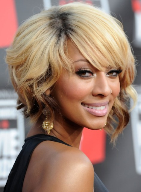 Inverted Curly  Bob Hairstyle 2013