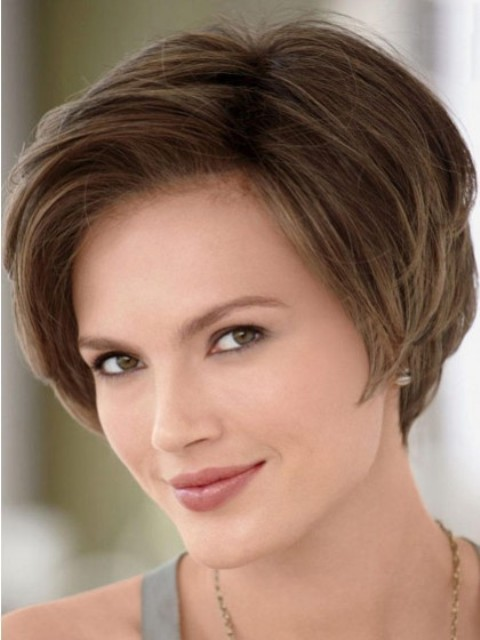 Side-Swept Bangs Flattering Bob for Square Face
