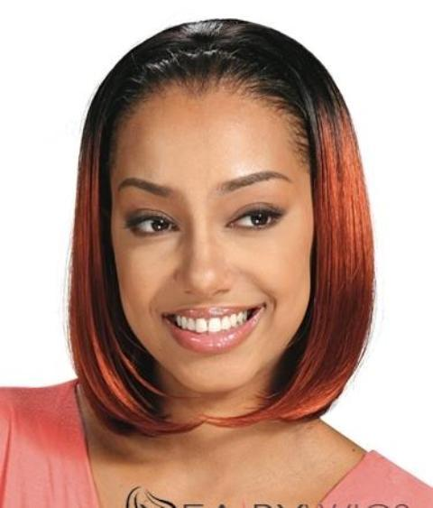 Straight Lace Front African American Wigs Human Hair -Rich Copper Red