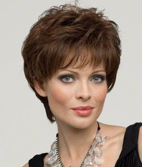 Short Hairstyles For Square Faces Haircuts Wigs Circletrest