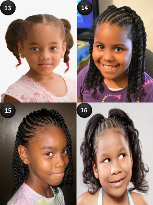 Hairstyles for African American kids with long hair
