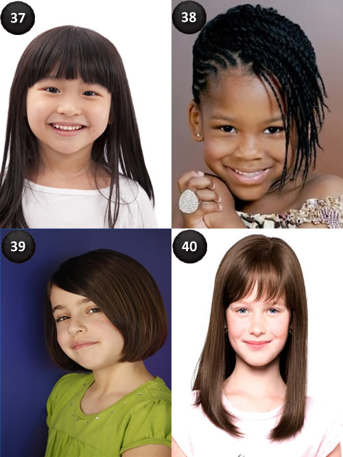 hairstyles for kids with long hair With Bangs