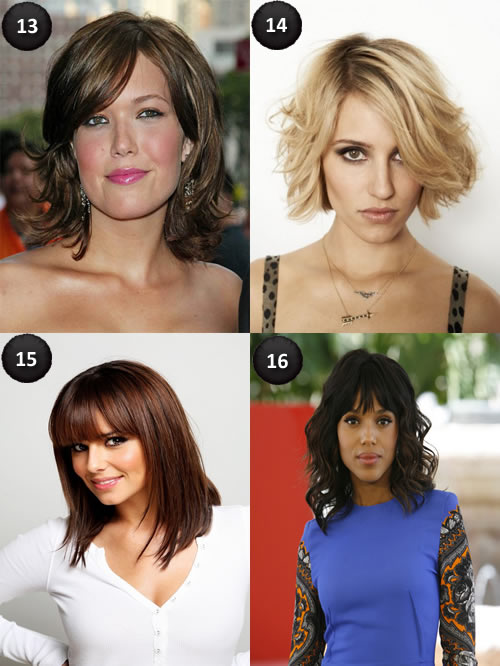 Oval face haircuts with bangs