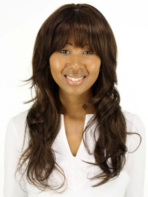 African American Long Hairstyles for Round Faces