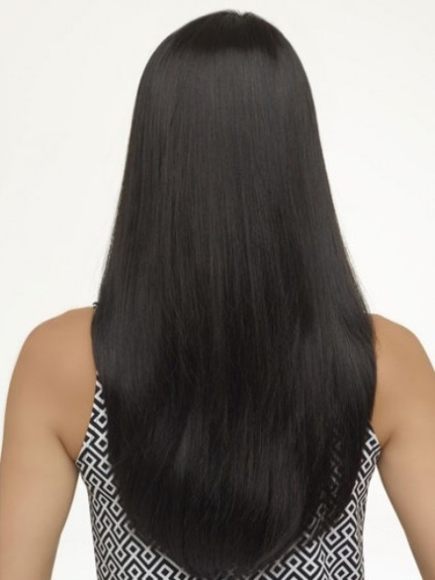 Black Long Hairstyles for Round Faces 2