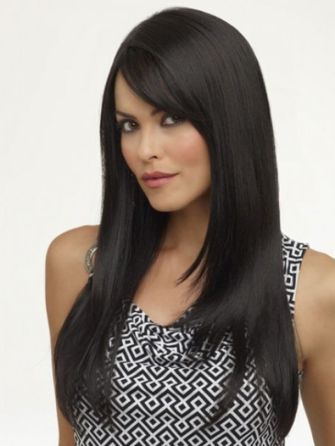 Black Long Hairstyles for Round Faces