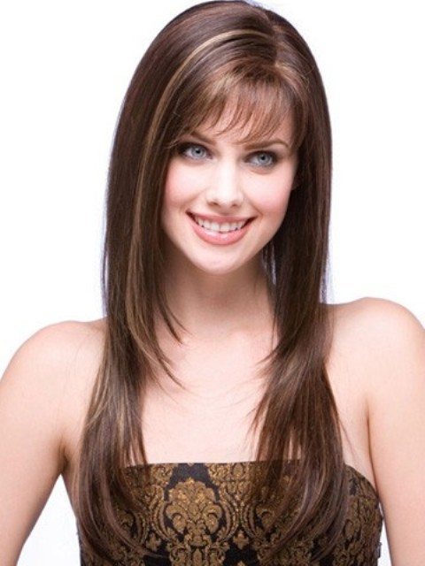 Fine Long Hairstyles with Bangs