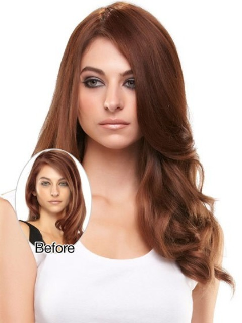 Brown Layered Long Hairstyles for Thick Hair