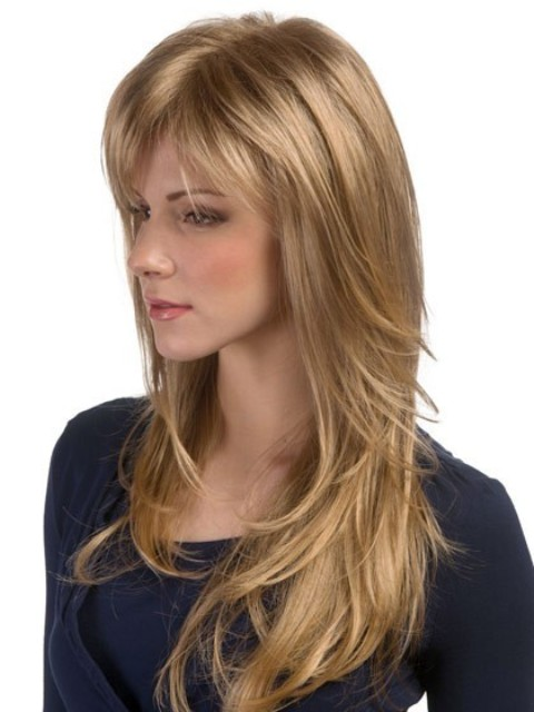 Long soft Hairstyles with Bangs - 2