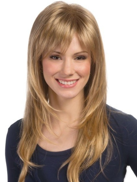 Long soft Hairstyles with Bangs