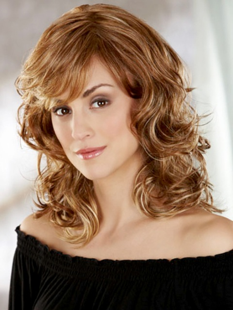Up To The Minute Medium Length Hairstyles For Curly Hair