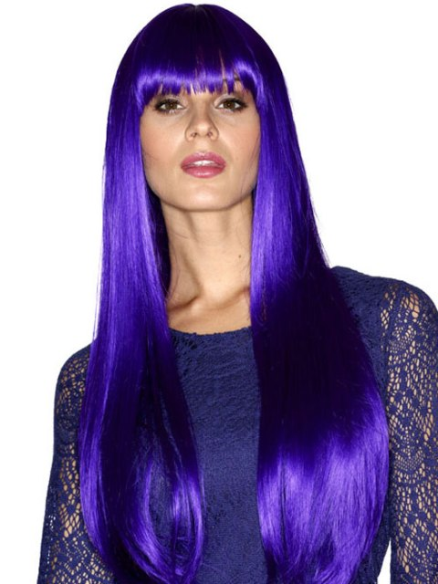 Purple Bleached Hairstyles for Women
