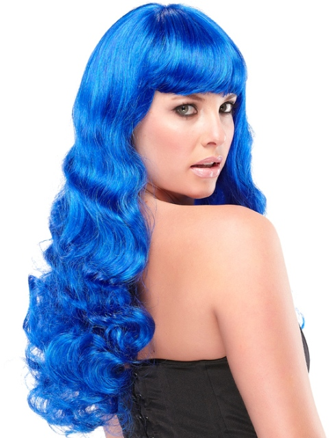 Royal blue Bleached Hairstyles for Women-2