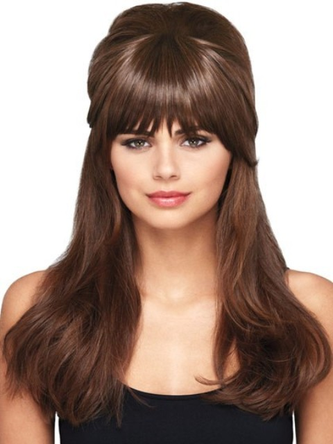 Long Hairstyles for Thick Hair - With a Clip In Bang