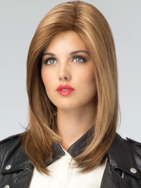 Thick Long Hairstyles for Round Faces