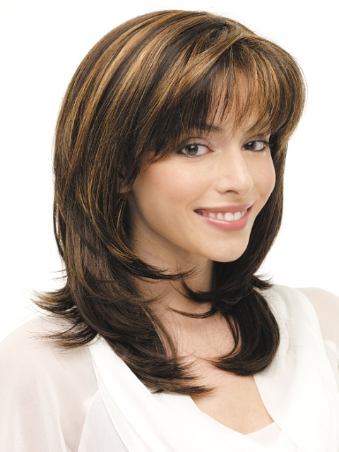 Shoulder Length Hair With Layers And Bangs Layered hair styles for