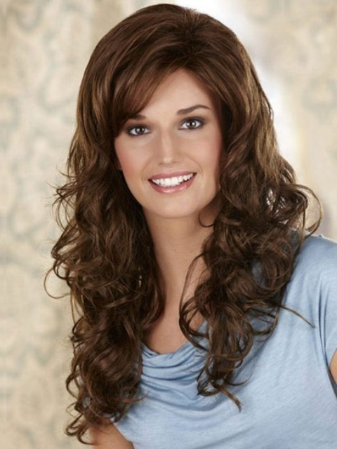 Curly Long Hairstyles for thick hair