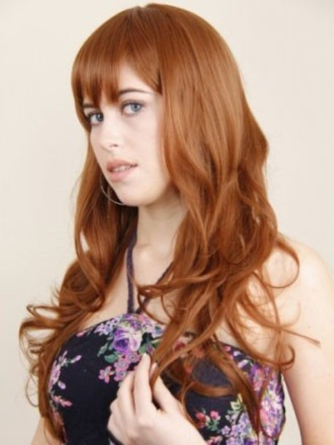Cute Long  Hairstyles With Bangs-2