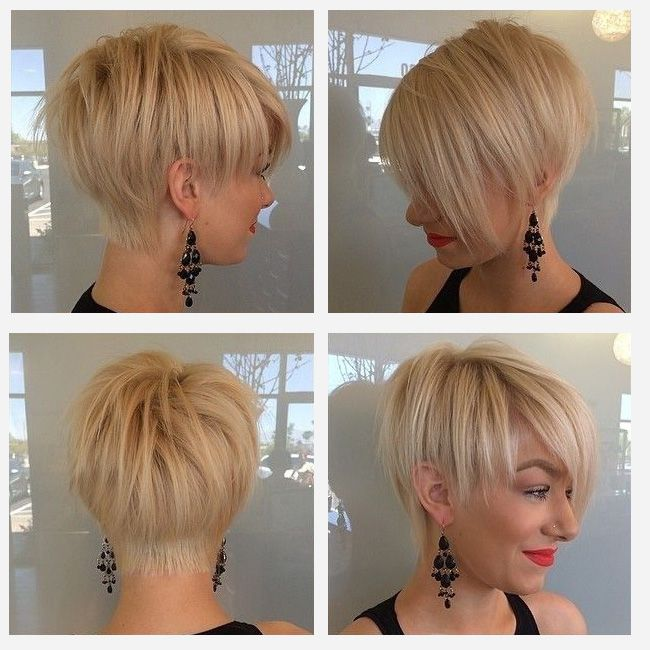 Hairstyle for short hairs with long fringe