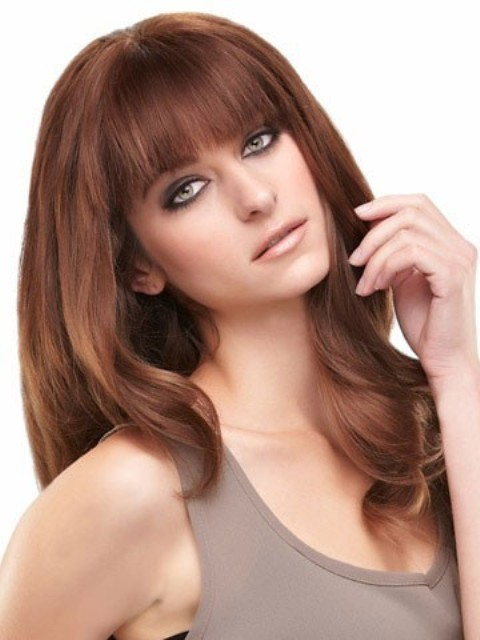 Long  Hairstyles With Bangs for round faces-2