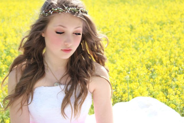 Long Wedding Hairstyles with woodland vine crown-2
