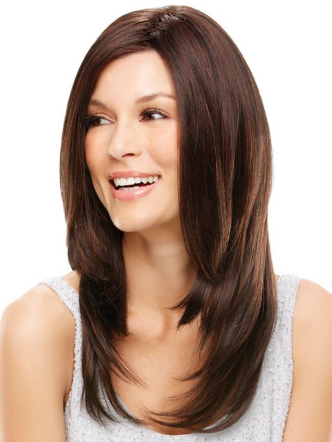 Long sleek hairstyles for women over 40