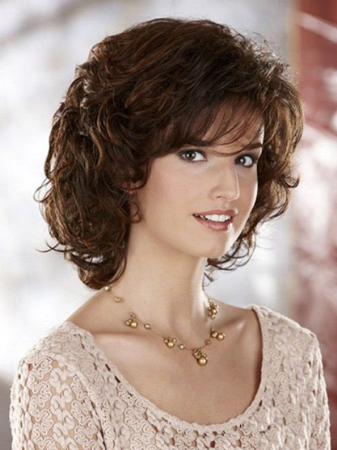Curly Hairstyles For Short To Medium Length Hair : Trendy medium length hairstyles for round faces pictures
