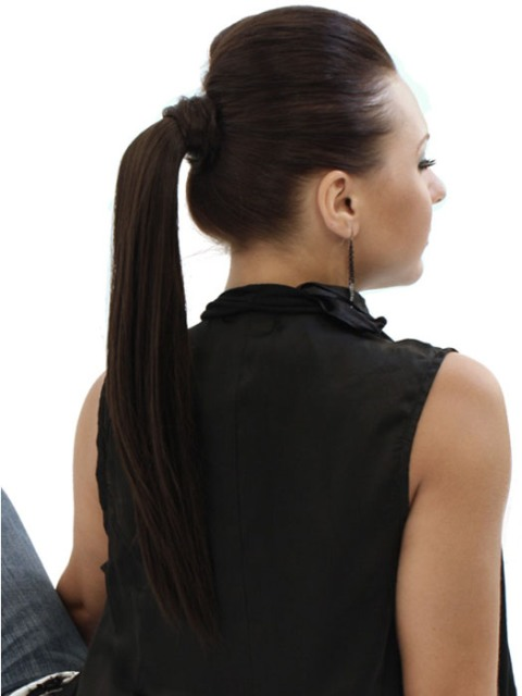 Ponytail Hairstyles for round faces-2