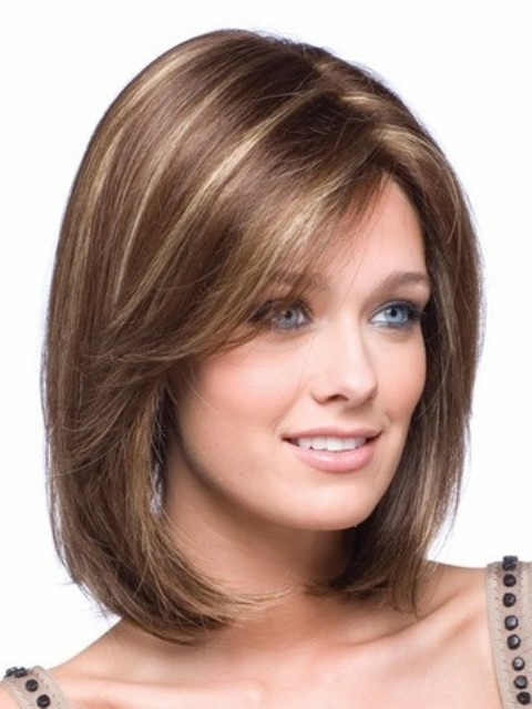 Hairstyle Shoulder Length Hair Round Face