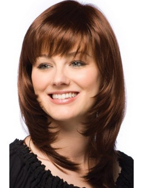 Trendy Medium Length Hairstyles for Round Faces – PICTURES & TIPS ...