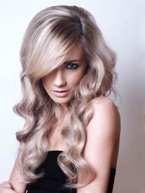 Wavy Long  Hairstyles With Bangs