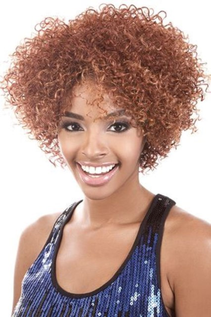 Brown Curly Hair Bob Hairstyles For Black Women