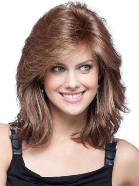 Shoulder Length Hairstyles 2017 For Round Faces : Shoulder length human hair for round face
