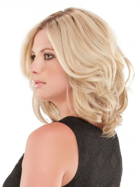 Simple Shoulder Length Hairstyles for Round Faces-2