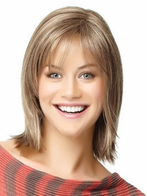 Soft Shoulder Length Hairstyles for Round Faces