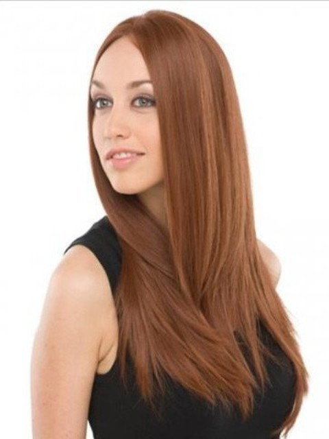 Straight Long hairstyles with for oval faces-2