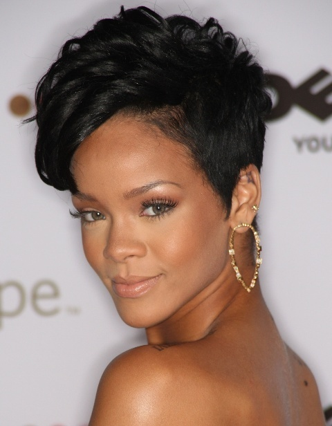 African American Short Hairstyles with spikes