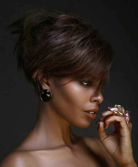Layered Short hairstyles for black women