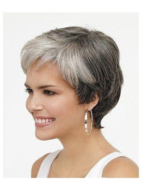 Short Hairstyles with bangs for Older Women Above 40 and 50, 480x640 ...