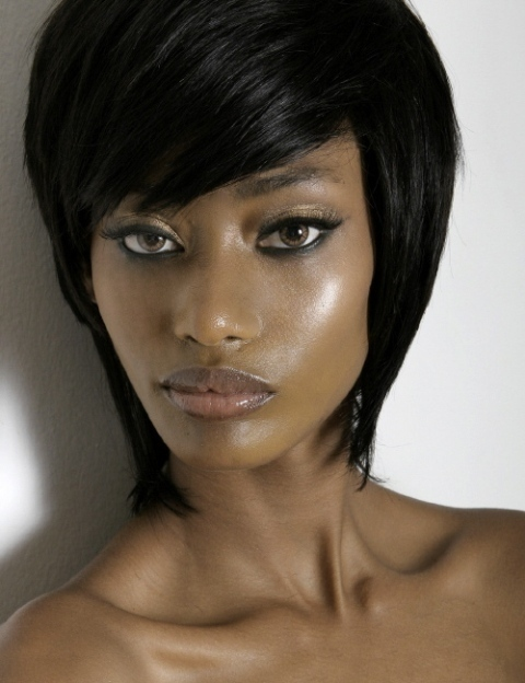 Straight Short hairstyles for black women