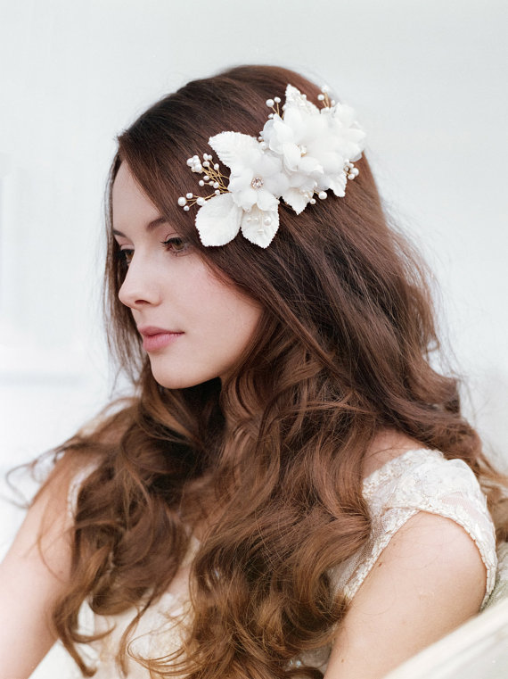 Wedding Hairstyles for Long Hair with Bridal hair comb