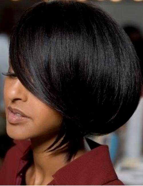 thick short hairstyle for black women