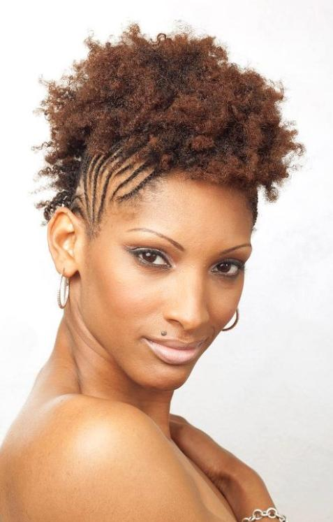 Short Natural Braided Hairstyles for Black Women