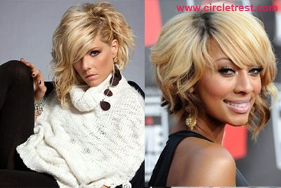 Asymmetrical Curly Bob Hairstyle